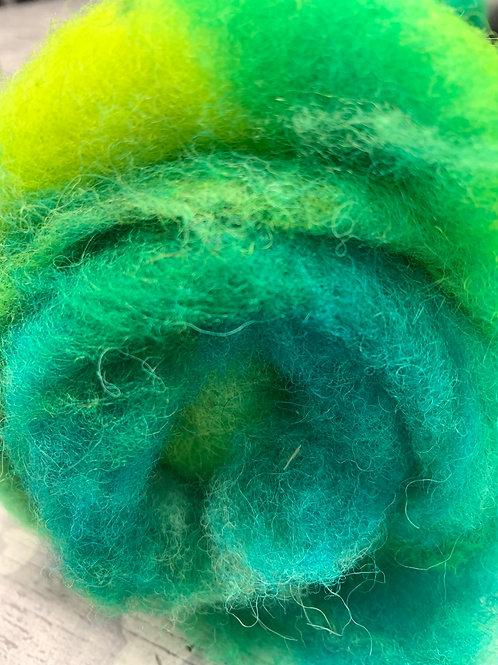 Hand dyed Finnsheep Batt 088