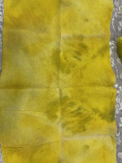 Hand dyed Merino Pre felt 50 cm x 100 cm