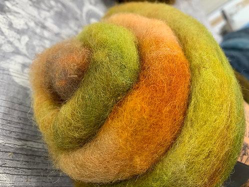 Hand dyed Finnsheep batt 036