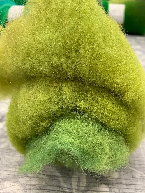 Hand dyed Finnsheep Batt 086a