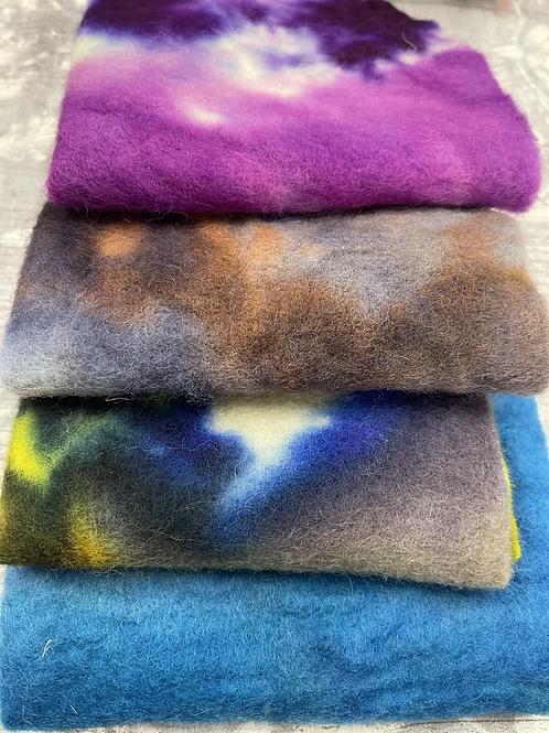 Pre Felt Hand Dyed x 4 pieces - 014