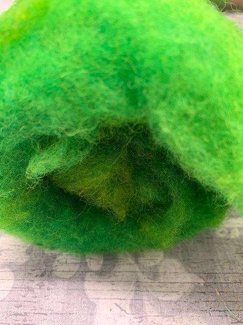 Hand dyed Finnsheep Batt 100