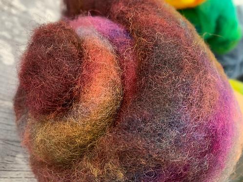 Hand dyed Finnsheep batt 023