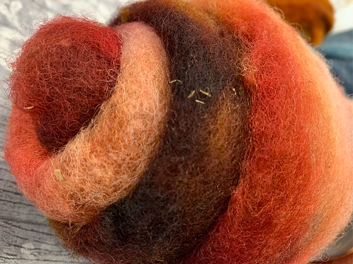 Hand dyed Finnsheep batt 031
