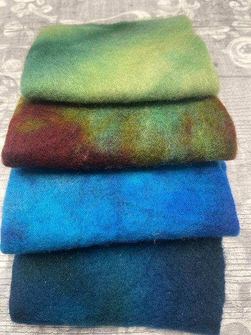 Pre Felt Hand Dyed x 4 pieces - 029