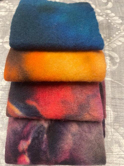 Pre Felt Hand Dyed x 4 pieces - 048