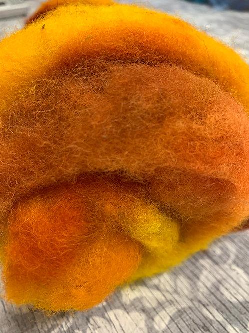 Hand dyed Finnsheep batt 045