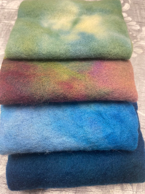 Pre Felt Hand Dyed x 4 pieces - 024