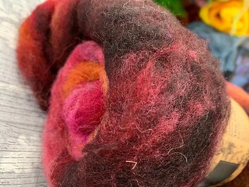 Hand dyed Finnsheep batt 022