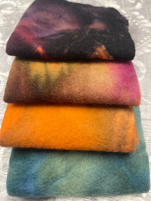 Pre Felt Hand Dyed x 4 pieces - 041