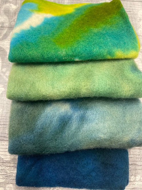 Pre Felt Hand Dyed x 4 pieces - 045