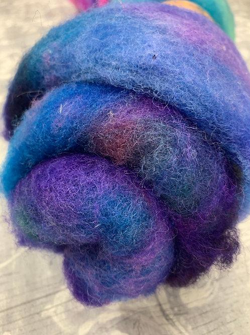 Hand dyed Finnsheep batt 062