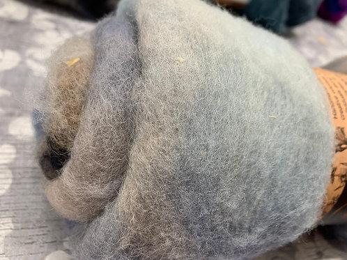 Hand dyed Finnsheep Batt 002