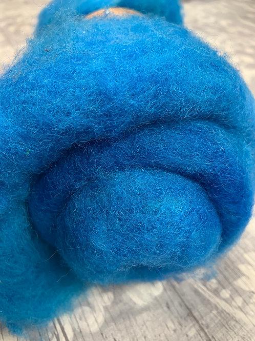 Hand dyed Finnsheep batt 058