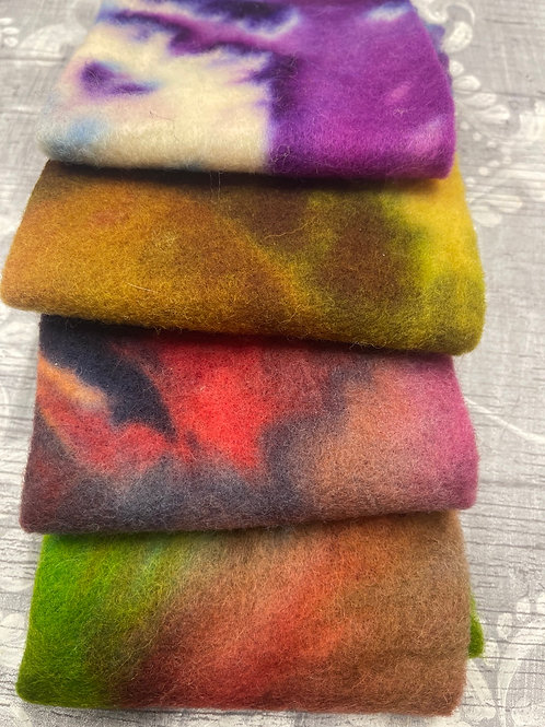 Pre Felt Hand Dyed x 4 pieces - 047