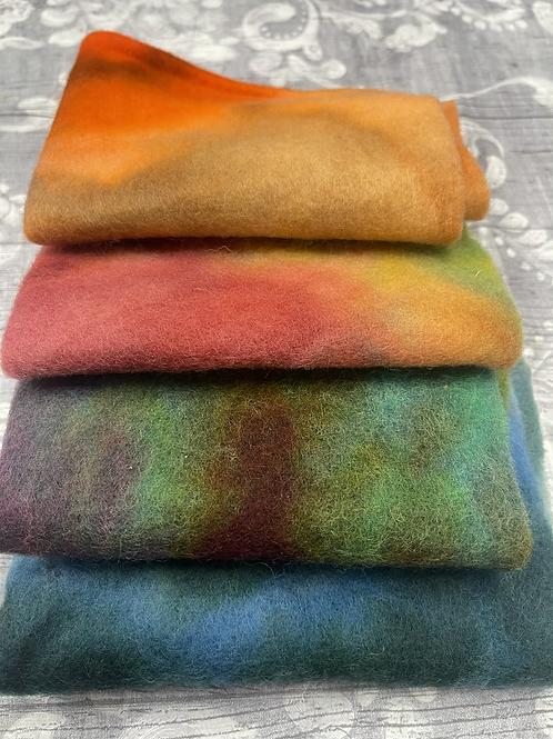 Pre Felt Hand Dyed x 4 pieces - 035