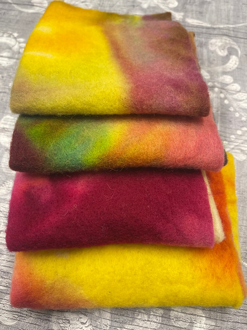 Pre Felt Hand Dyed x 4 pieces - 040