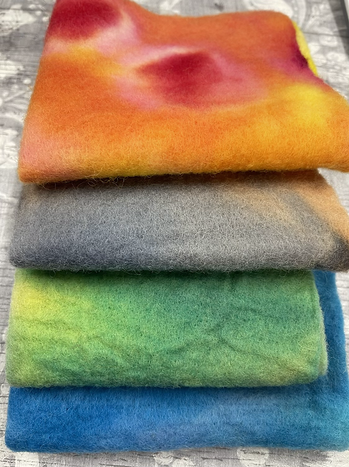 Pre Felt Hand Dyed x 4 pieces - 016