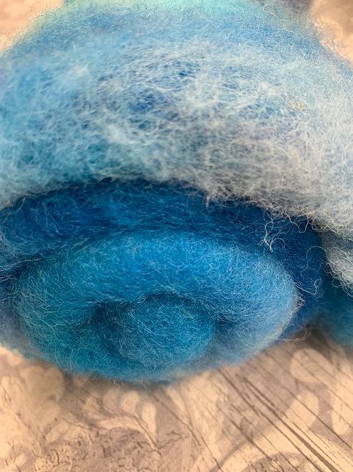 Hand dyed Finnsheep batt 059