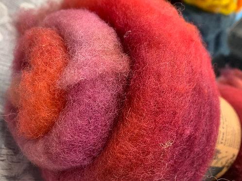 Hand dyed Finnsheep batt 019