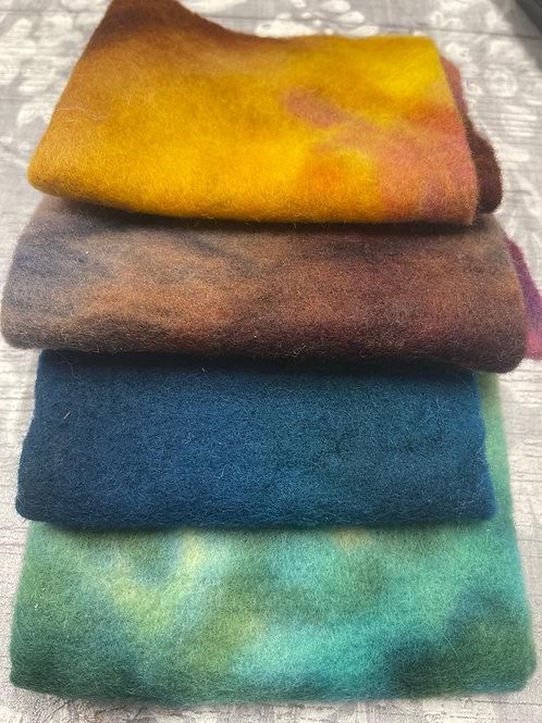 Pre Felt Hand Dyed x 4 pieces - 038