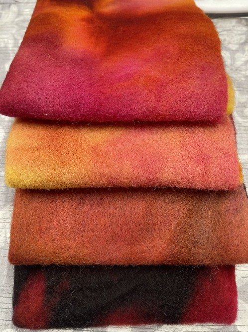 Pre Felt Hand Dyed x 4 pieces - 019