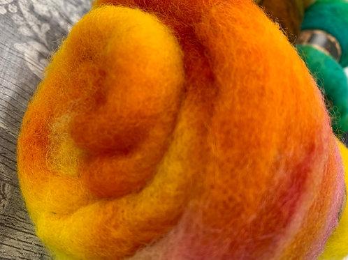 Hand dyed Finnsheep batt 024