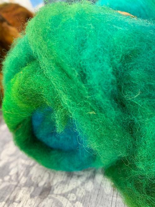 Hand dyed Finnsheep batt 026
