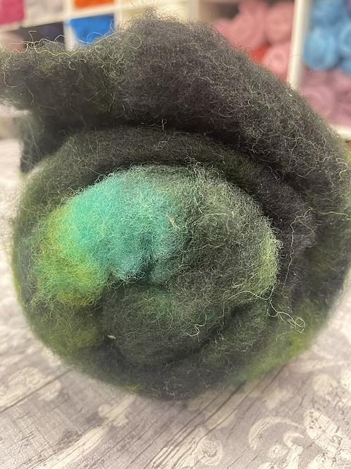 Hand dyed Finnsheep Batt 139