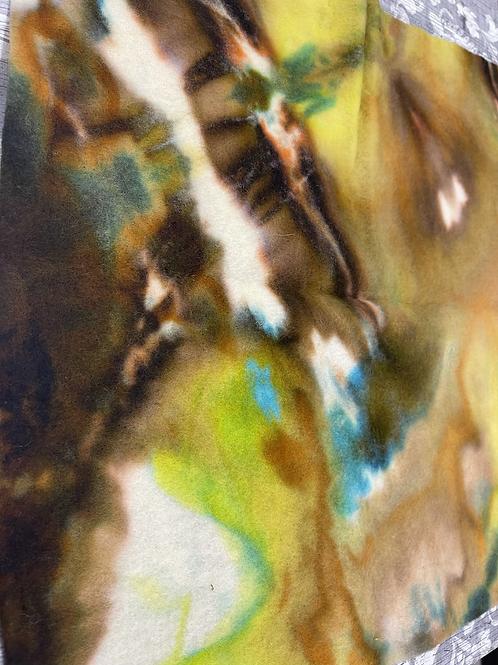 Hand dyed Merino Pre felt 50 cm x 50 cm