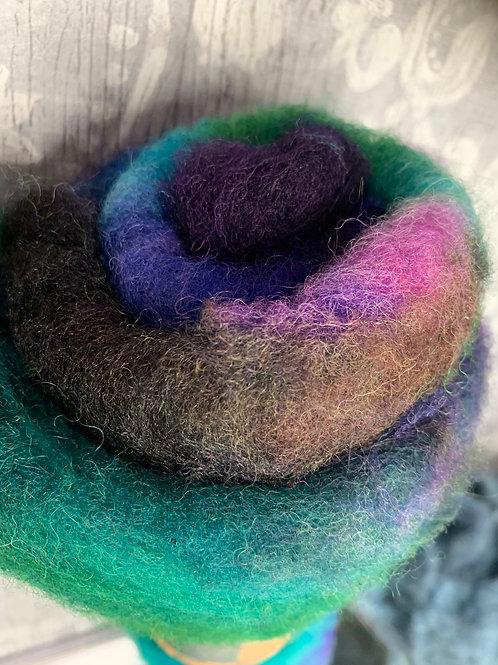 Hand dyed Finnsheep batt 010