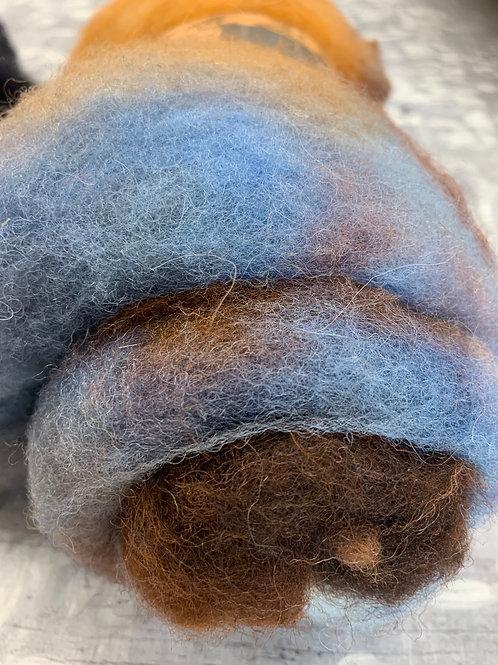 Hand dyed Finnsheep batt 048