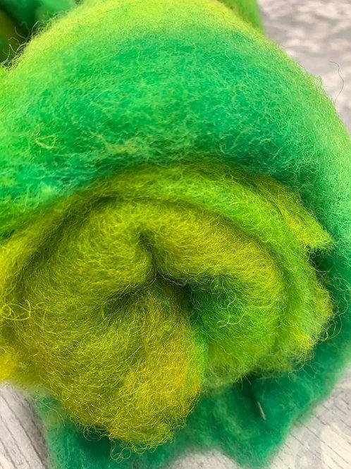 Hand dyed Finnsheep Batt 103
