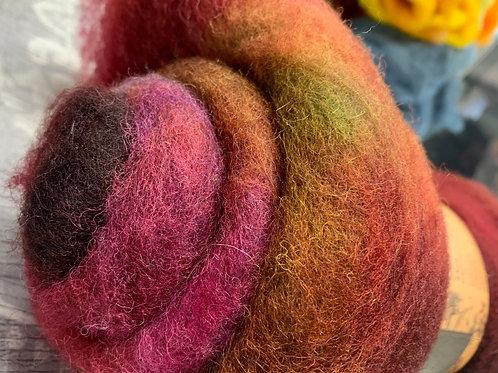 Hand dyed Finnsheep batt 020