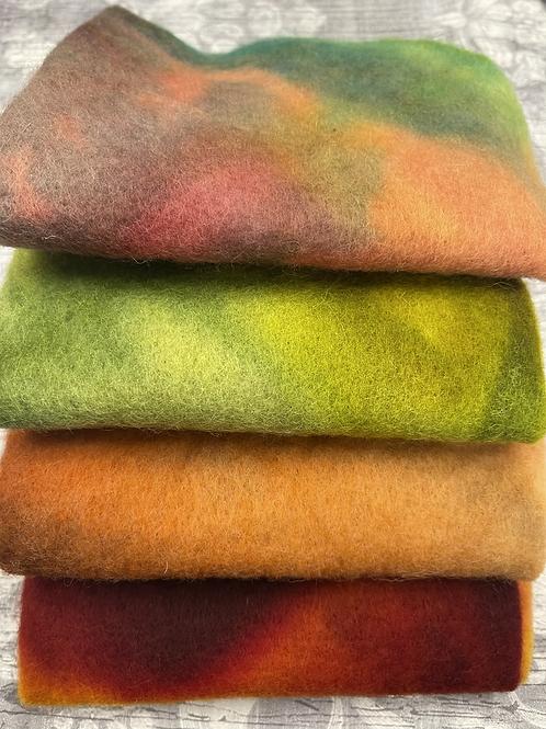 Pre Felt Hand Dyed x 4 pieces - 012