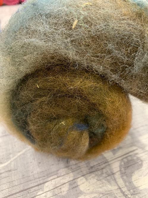 Hand dyed Finnsheep batt 055