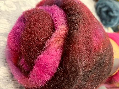 Hand dyed Finnsheep batt 017