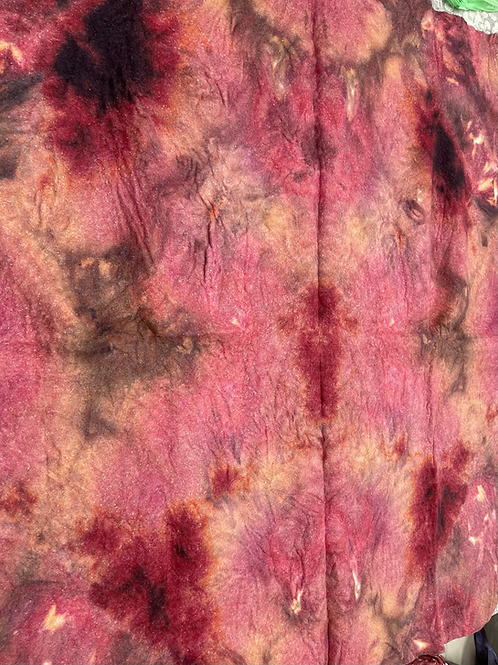 Hand dyed Merino with Mulberry silk Pre felt 100 cm x 100 cm