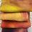 Thumbnail: Pre Felt Hand Dyed x 4 pieces - 020