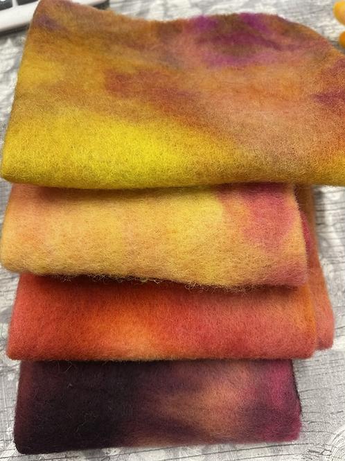 Pre Felt Hand Dyed x 4 pieces - 020