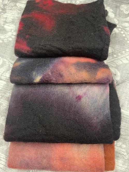 Pre Felt Hand Dyed x 4 pieces - 005