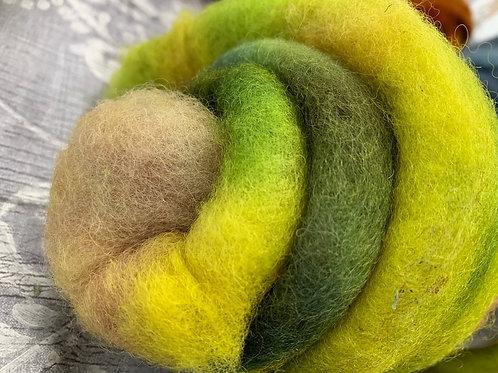 Hand dyed Finnsheep batt 030