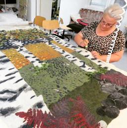 Finnsheep fibre rug