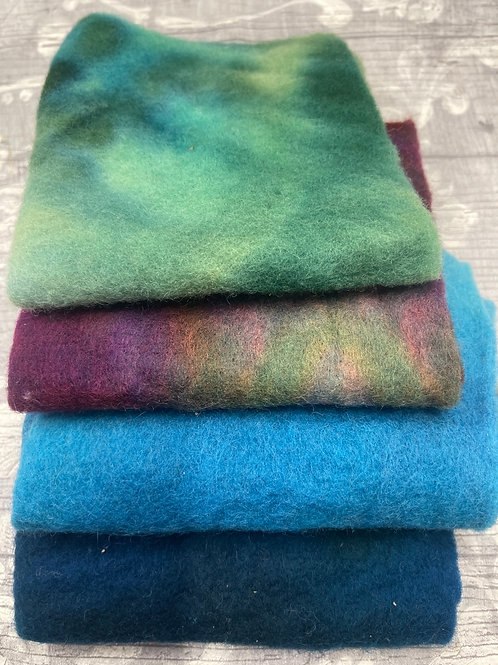 Pre Felt Hand Dyed x 4 pieces - 031