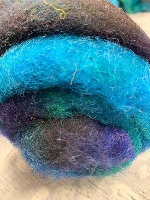 Hand dyed Finnsheep batt 060