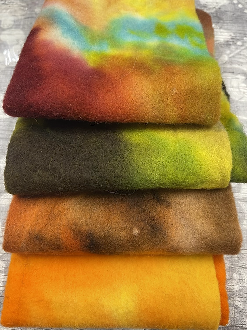 Pre Felt Hand Dyed x 4 pieces - 010