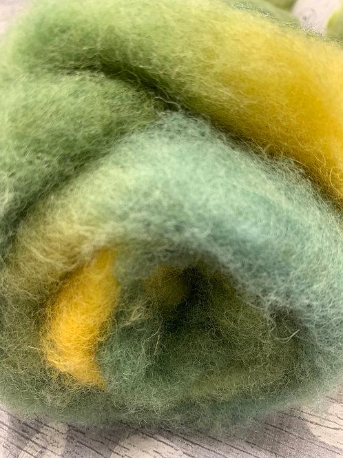 Hand dyed Finnsheep Batt 105