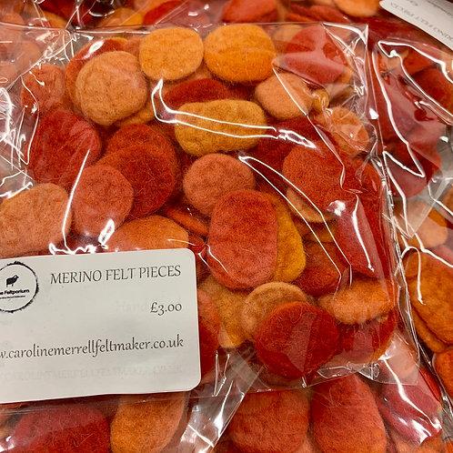 Felt Pieces Orange