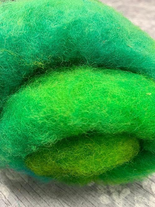 Hand dyed Finnsheep Batt 098