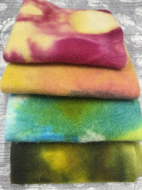 Pre Felt Hand Dyed x 4 pieces - 036